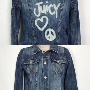 Juicy Couture Distressed Denim Jacket Small